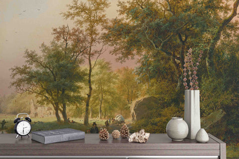 3D european style garden oil painting wall mural wallpaper 79