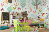 3D Cartoon Forest Animals Bear Wall Mural Wallpaper 33