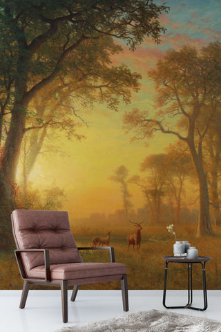 3D Twilight Jungle Oil Painting Wall Mural Wallpaper 97
