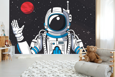 3D Space Astronaut Star Wall Mural Wallpaper 18