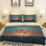 3D Sunset Tree Branches Quilt Cover Set Bedding Set Duvet Cover Pillowcases LXL 31
