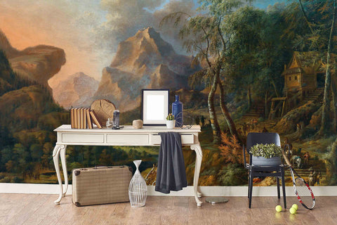 3D rural landscape oil painting wall mural wallpaper 78