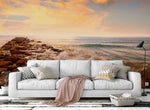 3D sky seaside rock wall mural wallpaper 22