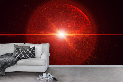 3D Red Light Wall Mural Wallpaper 51
