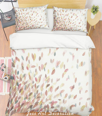 3D Colorful Leaves Quilt Cover Set Bedding Set Pillowcases 33