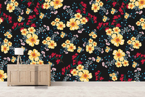3D colorful flower pattern wall mural wallpaper 10