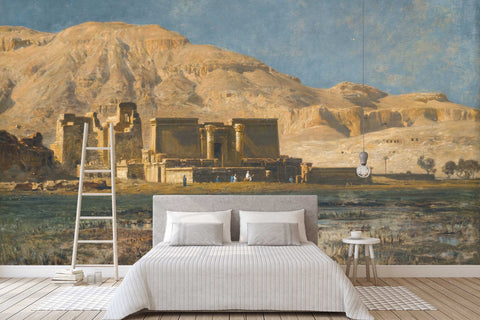 3D castle hill oil painting wall mural wallpaper 55