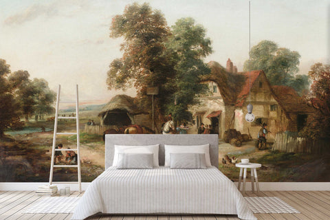 3D rural landscape oil painting wall mural wallpaper 69