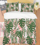 3D Leaves Green Quilt Cover Set Bedding Set Pillowcases 146