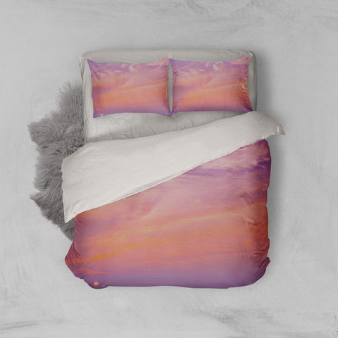 3D Pink Sky Quilt Cover Set Bedding Set Pillowcases 124