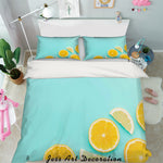3D Orange Lemon Quilt Cover Set Bedding Set Pillowcases 88