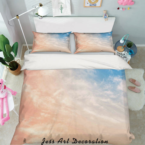 3D Sky White Clouds Quilt Cover Set Bedding Set Pillowcases 32