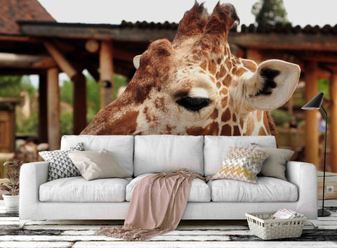 3D Giraffe Pattern Wall Mural Wallpaper 43