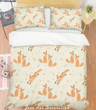3D Orange Fox Quilt Cover Set Bedding Set Pillowcases 141