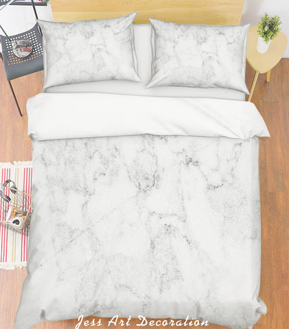 3D Grey Marble Quilt Cover Set Bedding Set Pillowcases 174