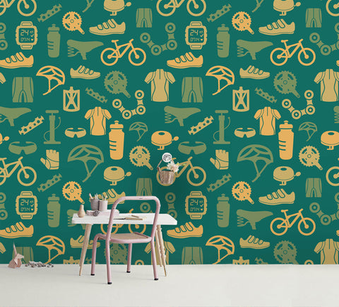 3D Cartoon Green Clothes Shoes Wall Mural Wallpaper 29