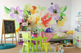3D Watercolor Flowers Wall Mural Wallpaper 29