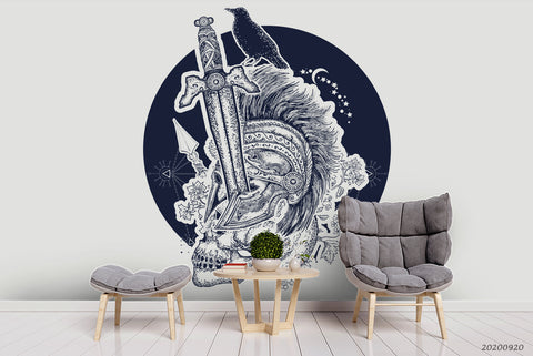 3D Human Skeleton Soldiers Wall Mural Wallpaper WJ 3063
