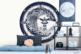 3D Lighthouse Rose Compass Tattoo Wall Mural Wallpaper WJ 3036