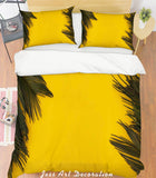 3D Yellow Leaves Quilt Cover Set Bedding Set Pillowcases 137