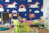 3D Unicorn Rainbow Wall Mural Wallpaper 112