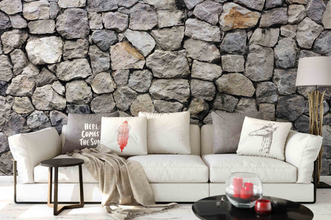 3D Stone Wall Mural Wallpaper 142