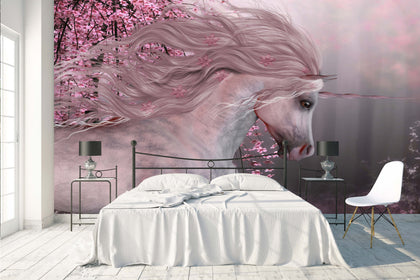 3D Pink Unicorn Wall Mural Wallpaper 35