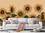 3D Yellow Sunflower Wall Mural Wallpaper 63
