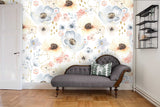3D Watercolor Warm Floral Wall Mural Wallpaper 37 - Jessartdecoration