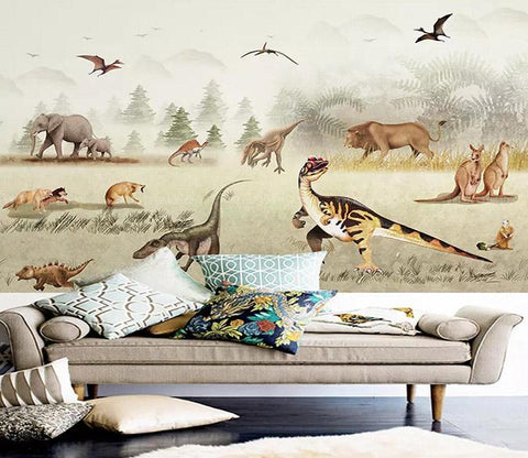 3D Dinosaur Lon Kangaroo 242 Wallpaper Jess Art Decoration