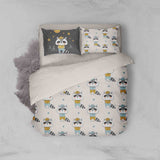 3D Raccoon Cartoon Quilt Cover Set Bedding Set Pillowcases 19