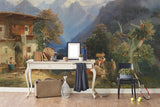 3D mountain house oil painting wall mural wallpaper 76