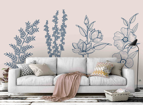 3D Flower Texture Wall Mural Wallpaper 82