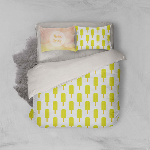 3D Yellow Popsicle Quilt Cover Set Bedding Set Pillowcases 16
