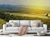 3D Green Wheat Landscape Wall Mural Wallpaper 74