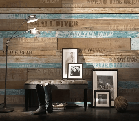 3D Retro Board Letters Wall Murals 229 - Jessartdecoration