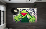 3D Abstract Letters Frog Graffiti Non-Slip Rug Mat JN 10