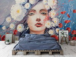 3D Oil Painting Belle Floral Wall Mural Wallpaper 24