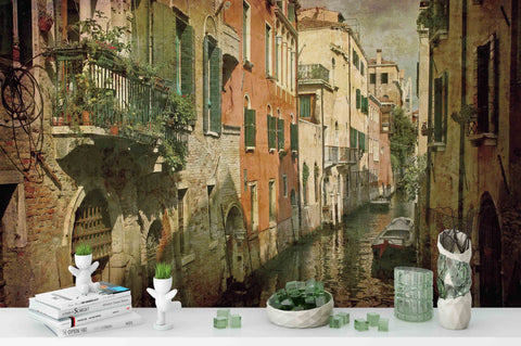 3D Venice Water City Wall Mural Wallpaper 252