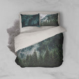 3D Green Pine Forest Quilt Cover Set Bedding Set Pillowcases 87