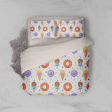 3D Cartoon Doughnut Lollipop Ice Lolly Popsicle Quilt Cover Set Bedding Set Pillowcases 54
