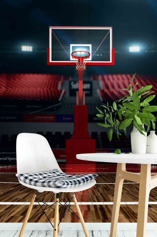 3D Basketball Stadium Wall Mural Wallpaper 04