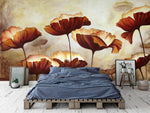 3D Red Floral Wall Mural Wallpaper 27 - Jessartdecoration
