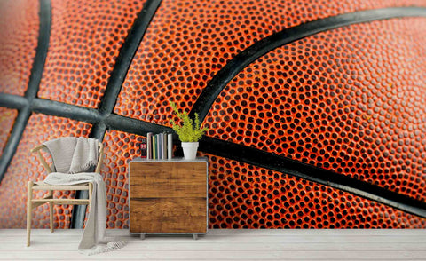 3D Bright Basketball Surface Floral Wall Mural Wallpaper ZY D8