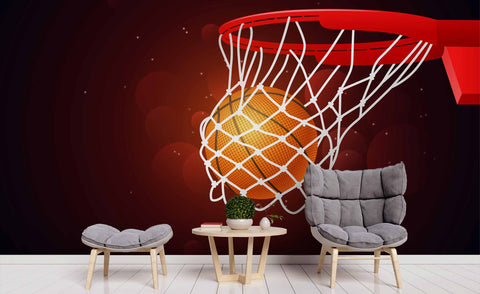3D Basketball Pattern Wall Mural Wallpaper 33