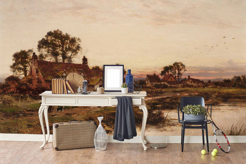 3D countryside oil painting wall mural wallpaper 10