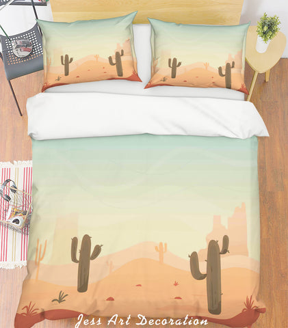 3D Desert Landscape Quilt Cover Set Bedding Set Pillowcases 251