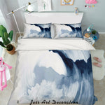 3D Abstract Blue Sea Waves Quilt Cover Set Bedding Set Pillowcases 79