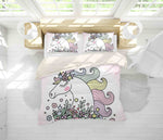 3D Cartoon Unicorn Quilt Cover Set Bedding Set Pillowcases 89