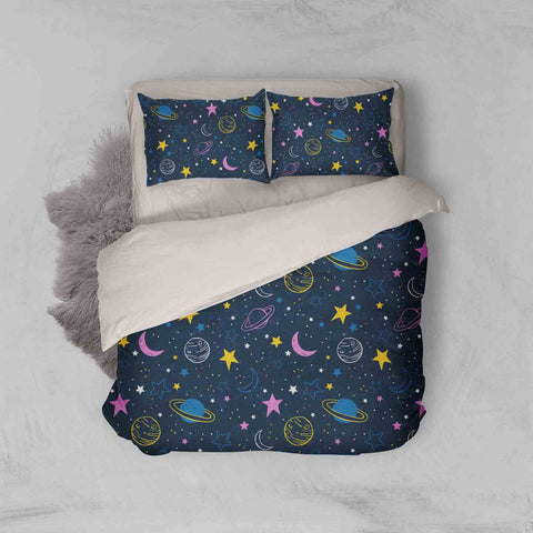 3D Star Moon Universe Quilt Cover Set Bedding Set Pillowcases 100